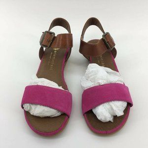 Eric Michael Womens Espadrilles Sandals Pink Brown